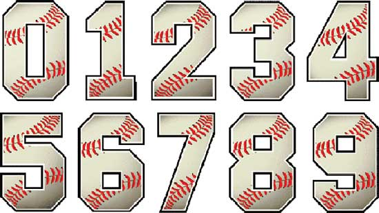 Baseball Numbers Designs