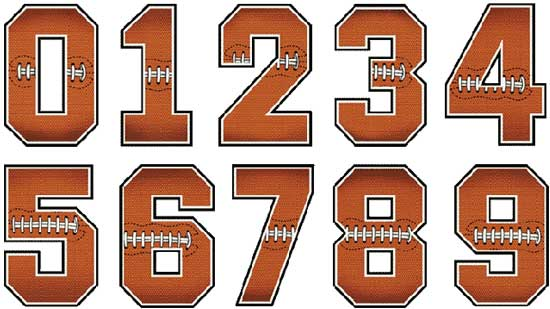 Football Numbers Designs