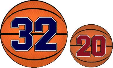 Basketball Numbers Designs