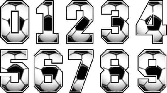Soccer Numbers Designs