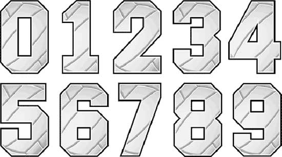 Volleyball Numbers Designs