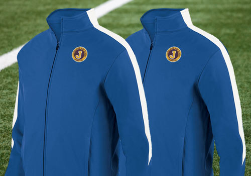 Our jackets can be personalized with your team name and even your player  name / number in just a few clicks using our easy online designer.